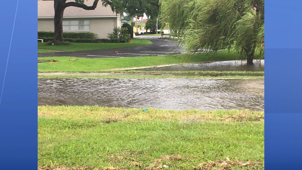 A water main broke on Bayshore Ave. and Bay to Bay on Sunday, May 27, 2018, causing some street flooding. (Tim Wronka, staff)