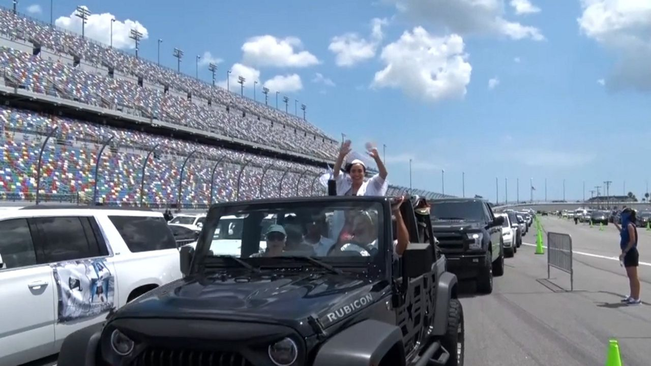 seniors graduate at daytona international speedway at daytona international speedway