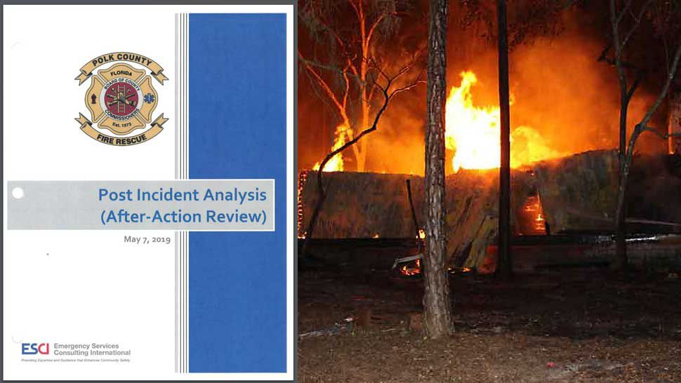After fire incident report
