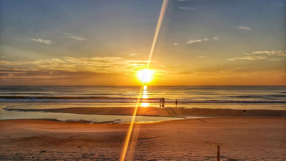 Submitted via the Spectrum News 13 app: There was a brilliantly spectacular sunrise at the Daytona Beach Shores on Thursday, June 14, 2018. (Katlyn Leclerc, viewer)