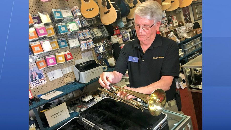 """I didn't do that for any recognition. I just did that because it was the right thing to do,"" said Jim Jones, owner of the music store Allegro Music Centre. (Spectrum News 13)"