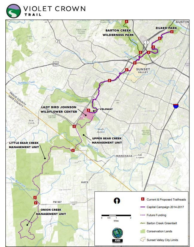 Violet Crown Trail Opens in South Austin on