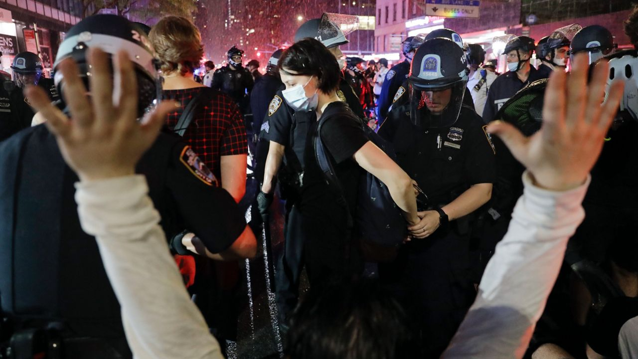 NYPD Cracks Down on George Floyd Protests After Curfew