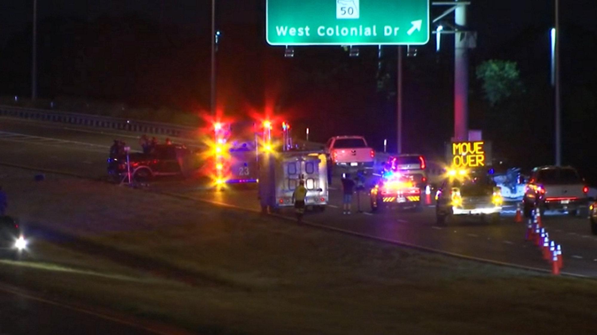 1 Dead After Pickup Truck Overturns in West Orange County