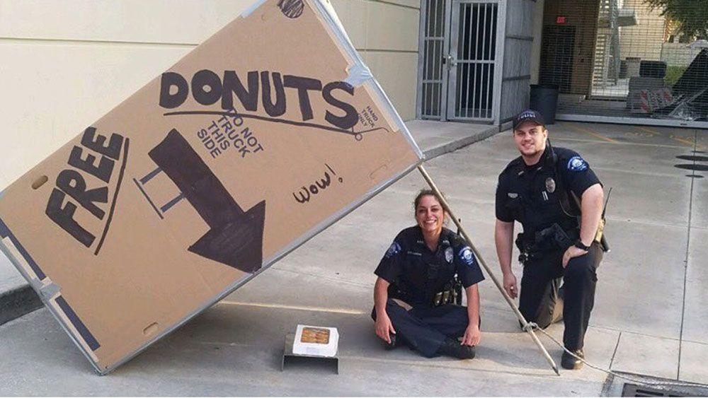 Florida Law Enforcement Officers Savor Doughnut Day Fun