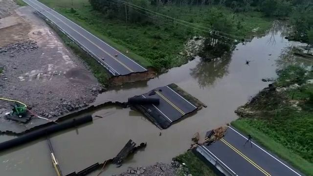 Flooding Impacts Major Highway