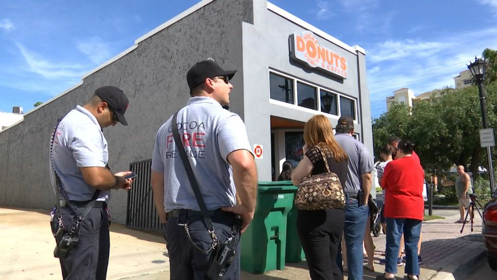 "Cocoa locals show their support for a closing ""Sugar Shack"" doughnut shop. Shop to officially close on Father's Day. (Krystel Knowles, staff)"