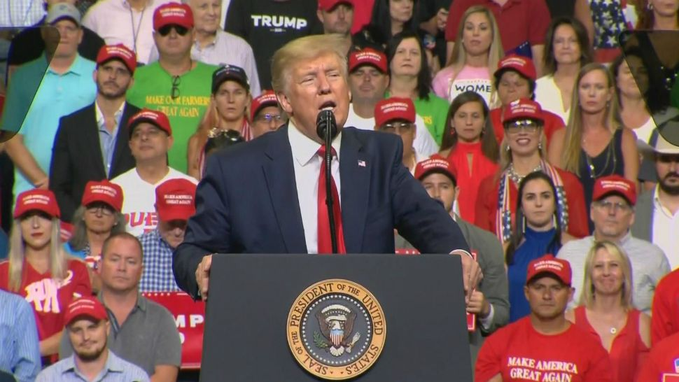 President Trump kicks off his re-election campaign at the Amway Center in Orlando, June 18, 2019. (File)