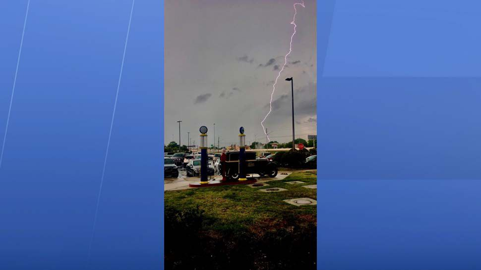 Lightning strike over Clearwater in Pinellas County. (Courtesy of John Planco)
