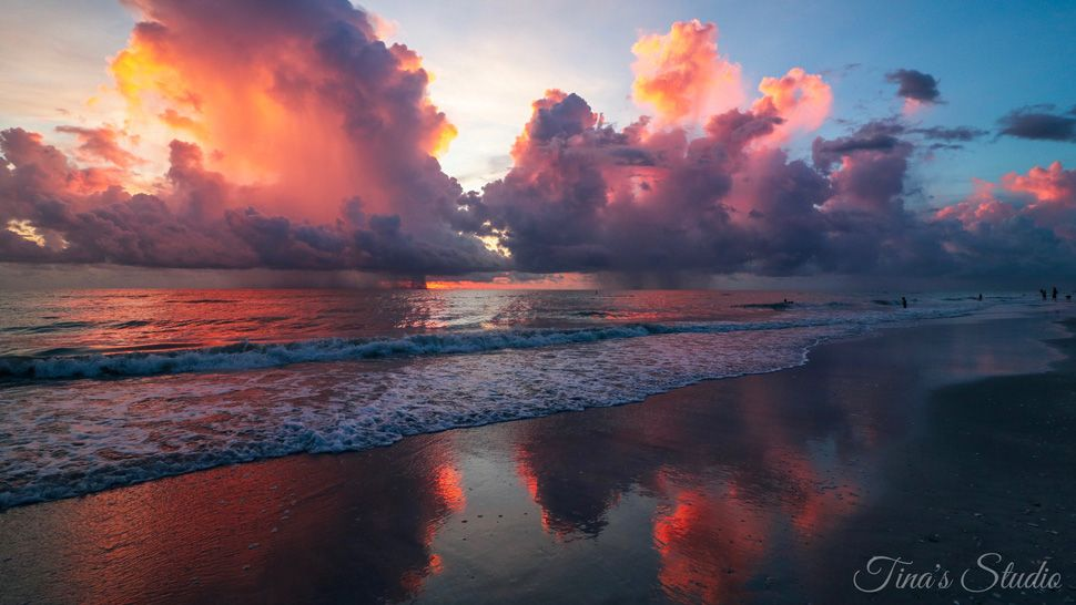 Submitted via Spectrum Bay News 9 app: Sunset over Indian Rocks Beach, Thursday, June 28, 2018. (Tina, viewer)