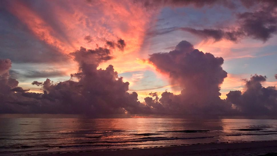 Submitted via Spectrum Bay News 9 app: Sunset over Pass-A-Grille, Thursday, June 28, 2018. (Debbie Page, viewer)