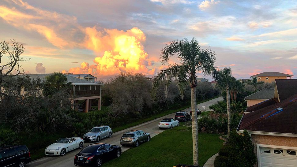 Submitted via Spectrum News 13 app: Hammock Beach saw a blazing sky on the Fourth of July. (Joyce Connolly, viewer)