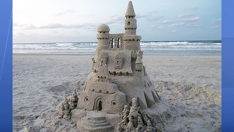 Submitted via the Spectrum News 13 app: This impressive sandcastle was discovered at New Smyrna Beach on Tuesday, July 10, 2018. (Scott Sullivan, viewer)