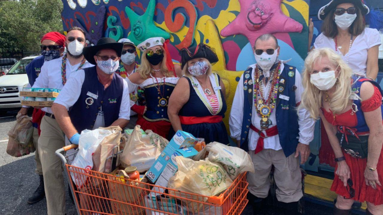 "Halloween 2020 Pirate Bay Tampa ""Pirate Crewe"" Donates to Metropolitan Ministries"
