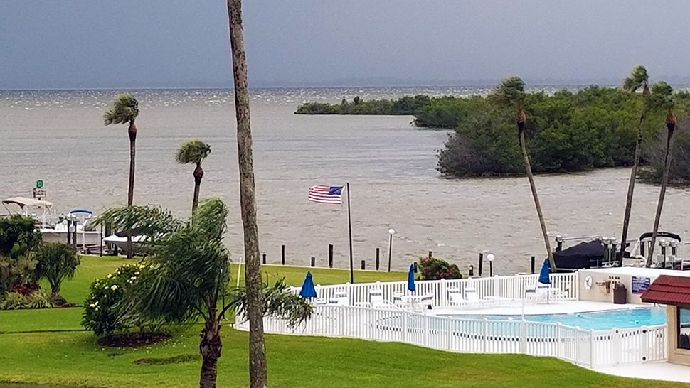 Submitted via the Spectrum News 13 app: Some strong winds and rough waters were seen on Thursday, July 17, 2018. (Carl Cioci, viewer)