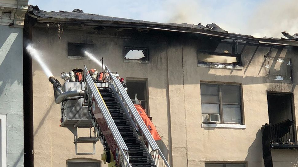 Nearly 40 people were evacuated. No one was hurt during the fire at Bayview Hotel in Daytona Beach. (Brittany Jones, staff)