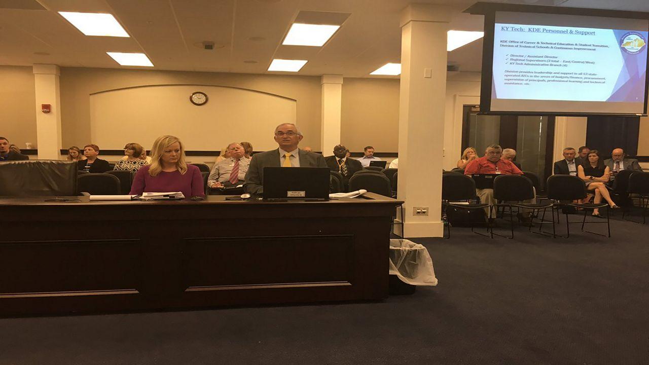 CTE officers speak at the CTE Task Force meeting