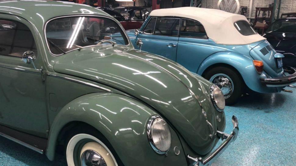 Road Ends for Volkswagen Beetle - But not in Manatee County