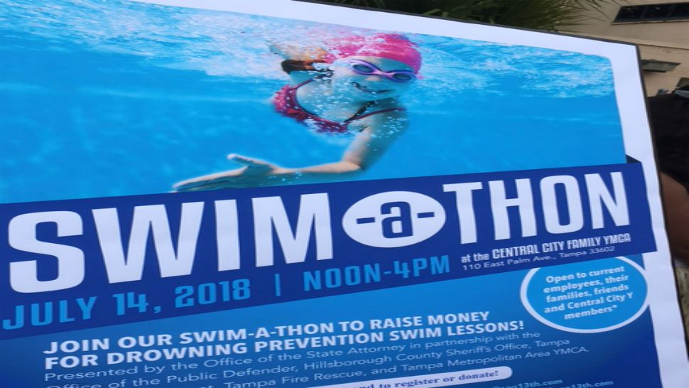 Hillsborough County State Attorney's Office hosts swim-a-thon to raise awareness for drowning prevention (Katie Jones, staff).