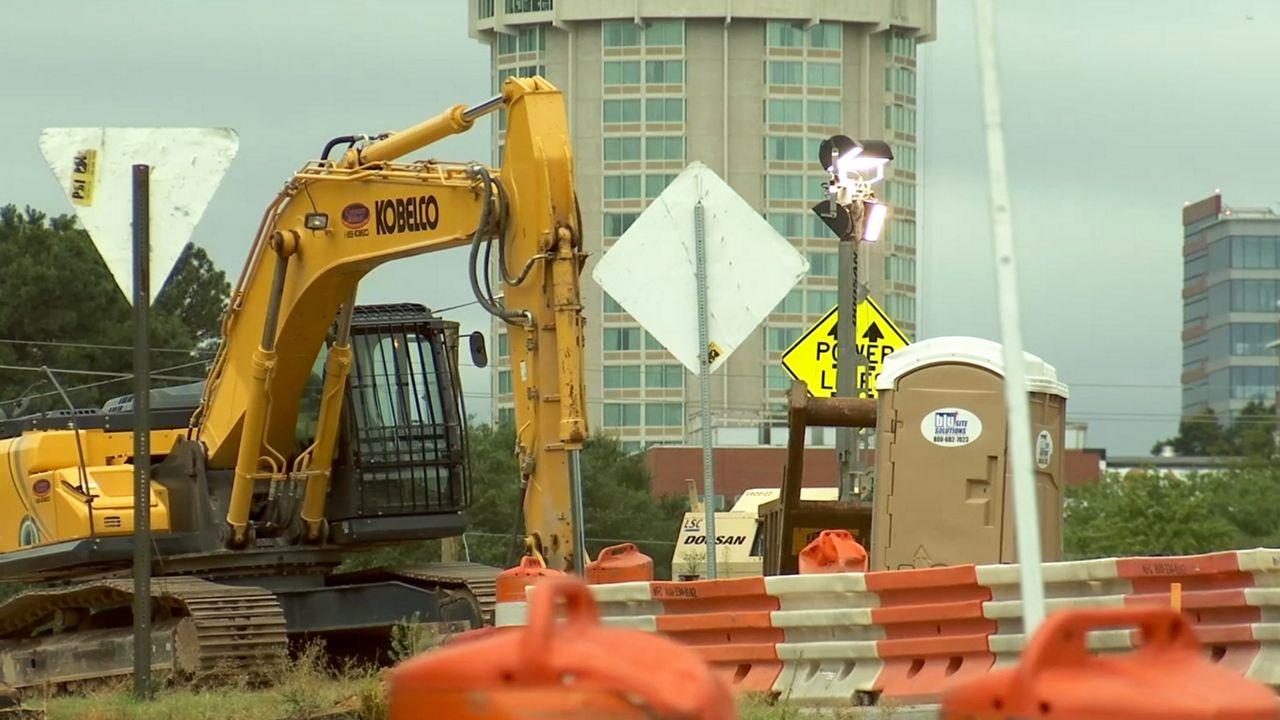 Ramp at Capital Boulevard and Peace Street Closes