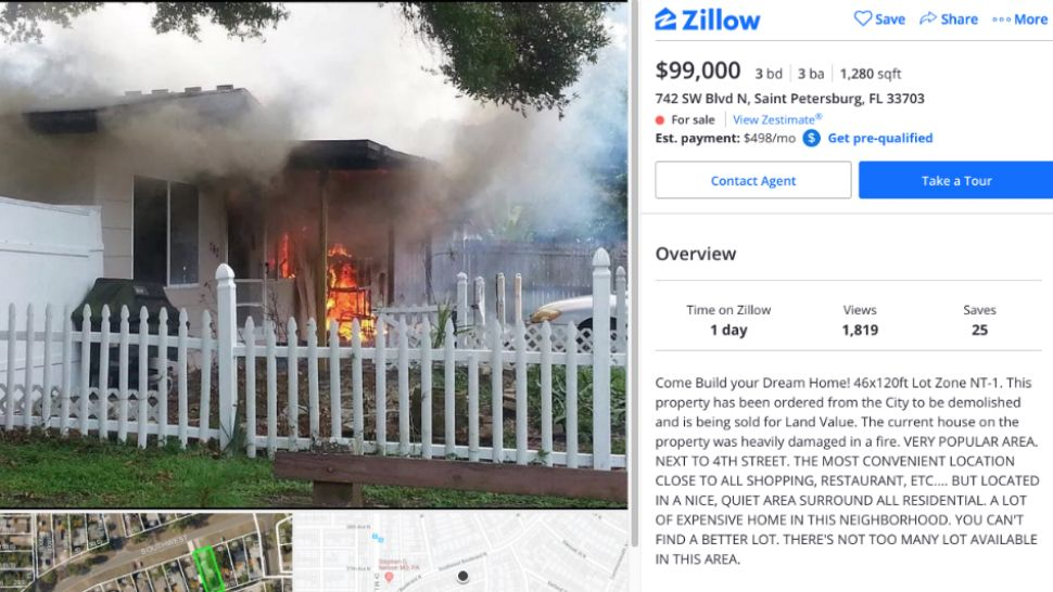 Hot Property? Realtor Uses House Fire Photo To List Home