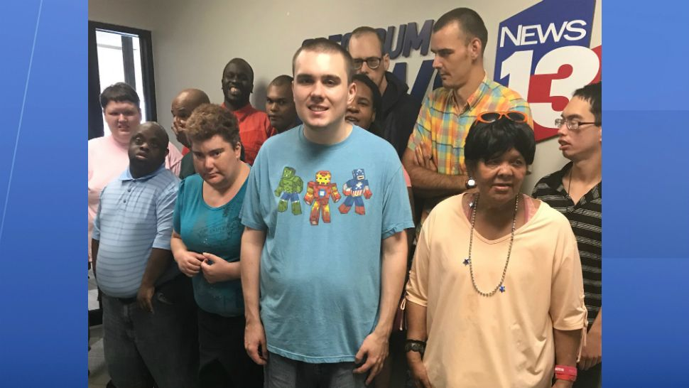 Members of the CFCI-Community Center visit the Spectrum News 13 studios on July 23, 2019.