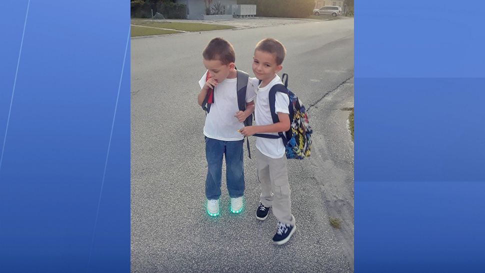 These two are starting first and second grade today. (Donna Wilson, viewer)