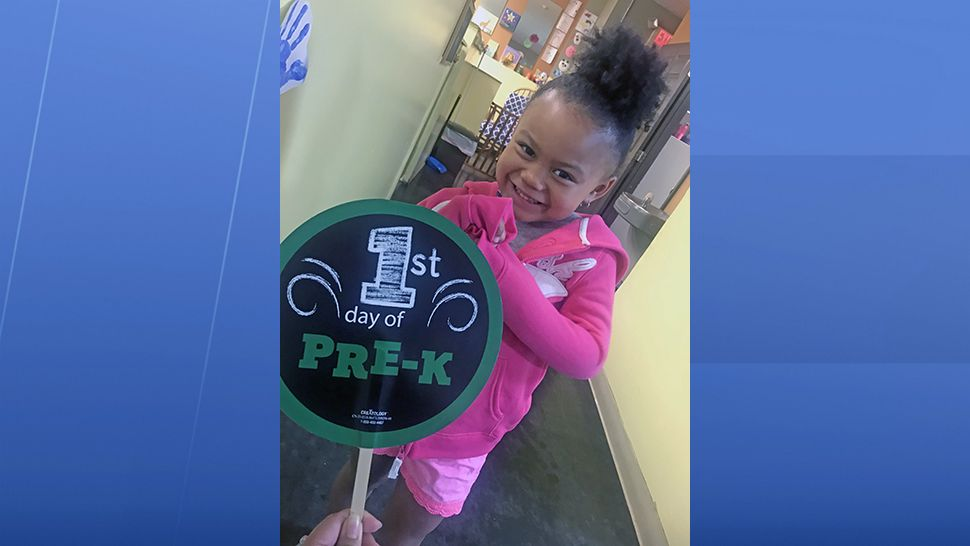 Sent to us via the Spectrum News 13 app: Caleigh looks very excited to start pre-k at VPK.