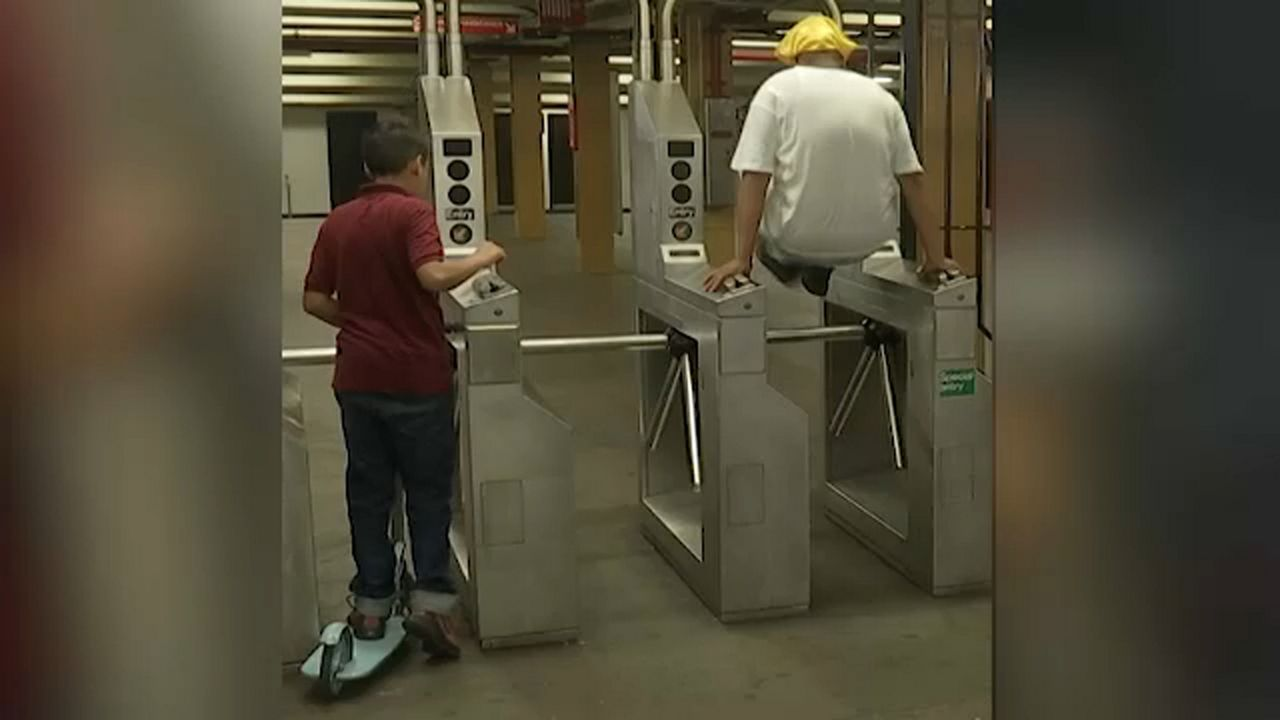 New York Subway Map Jumpers.Mta Says Fare Beaters Partially To Blame For Fare Hikes