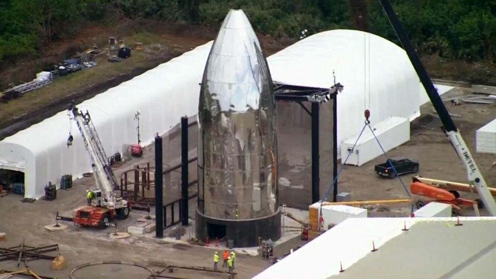 CEO Elon Musk Visits Florida Starship Facility