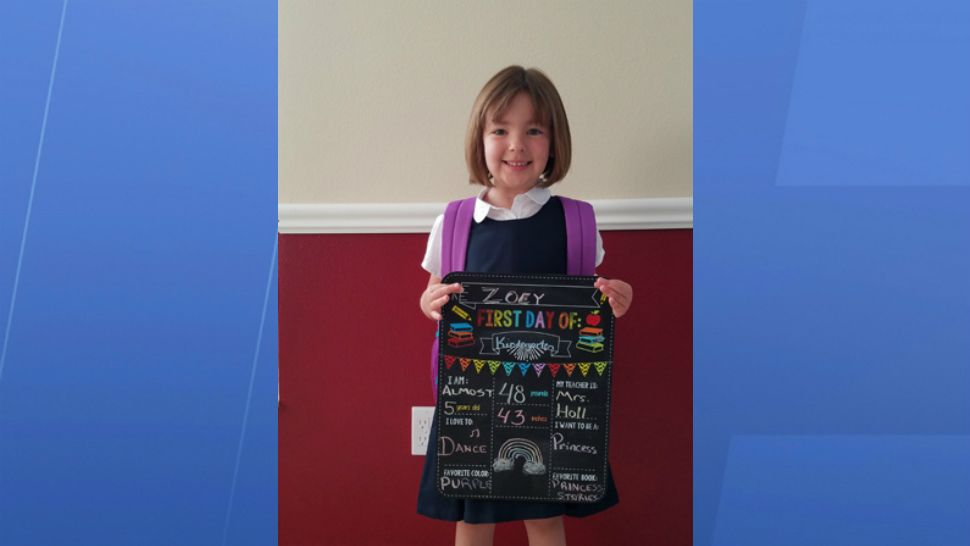 Submitted via the Spectrum News 13 app: First day of school for Zoey in Osceola County.