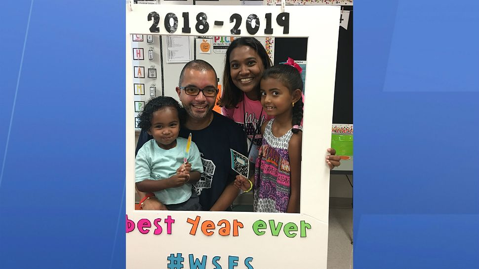 Submitted via the Spectrum News 13 app: The Torres family at Winter Springs Elementary as their daughter starts second grade.