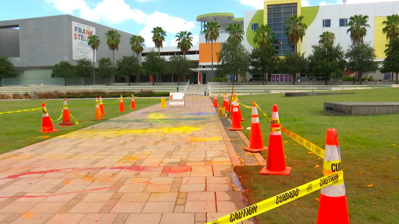 7 Arrested After Trying to Paint Pride Mural at Curtis Hixon Park