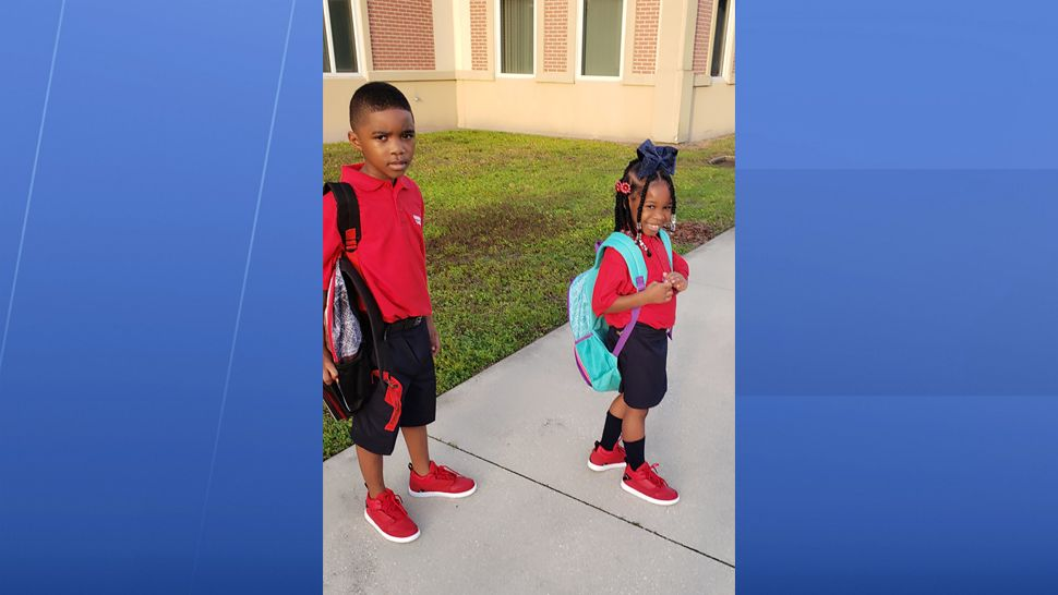 First day of 1st grade and kindergarten for jeremiah and Jessiya!