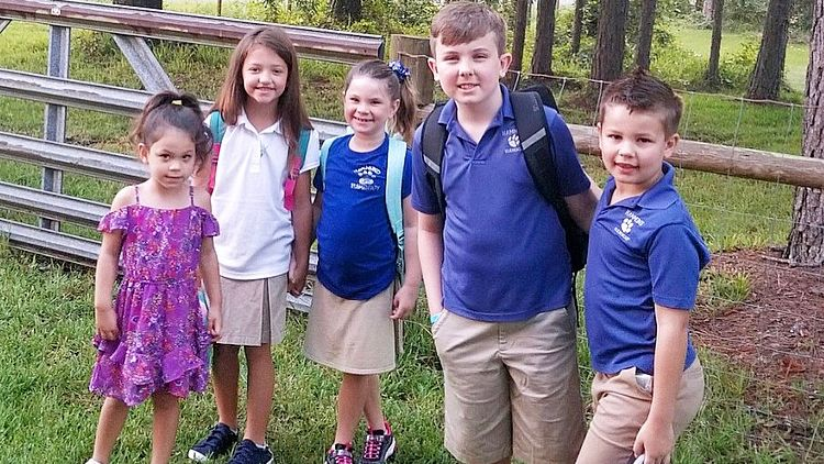 First day of school for Maria Porter's kids on August 12, 2019 in Pasco County.