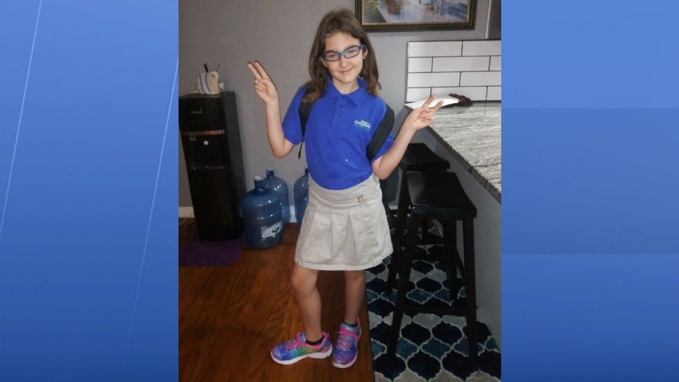 Sent to us with the Spectrum News 13 app: Samantha's 1st day of 4th grade. (Jennifer Soame/viewer)