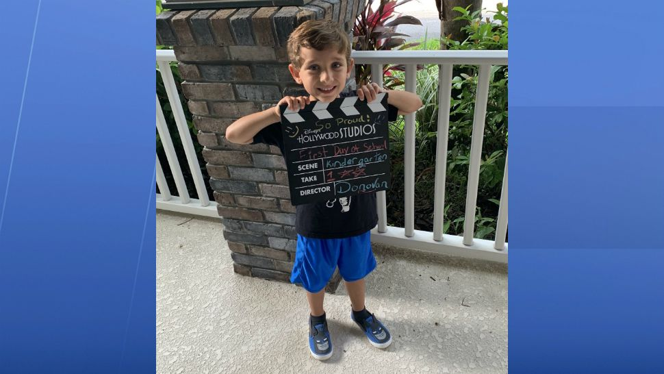 Sent to us with the Spectrum News 13 app: Donovan's 1st day of kindergarten. (Danielle/viewer)