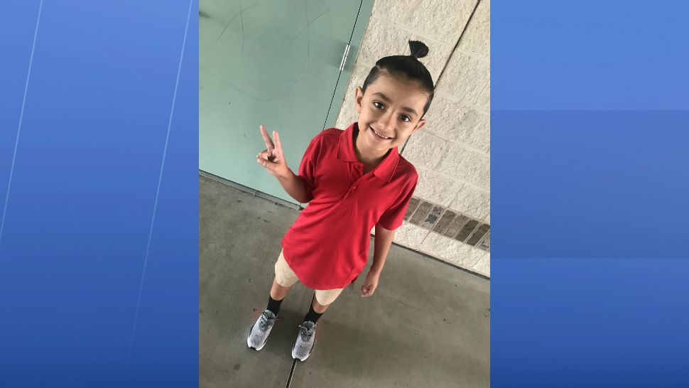 Sent to us with the Spectrum News 13 app: Jovanni's 1st day of 2nd grade. (Caridad Somonte/viewer)