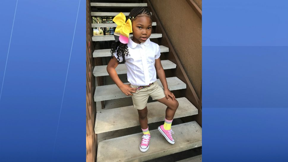 Sent to us with the Spectrum News 13 app: Milania's 1st day of VPK. (Cedrea Kirkland/viewer)