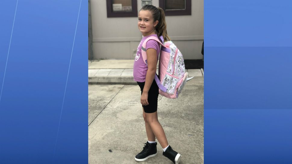 Sent to us with the Spectrum News 13 app: First day of 1st grade! (Nora Harris/viewer)