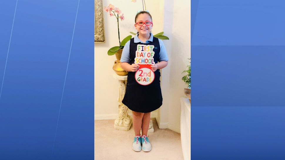 Sent to us with the Spectrum News 13 app: Genesis' first day of school! (Bea Malpica/viewer)