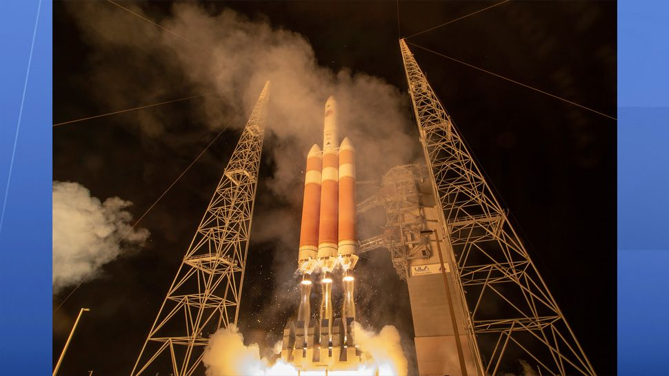 A United Launch Alliance Delta IV Heavy rocket carrying NASA's Parker Solar Probe spacecraft lifted off from Space Launch Complex-37 on Aug. 12 at 3:31 a.m. (United Launch Alliance)