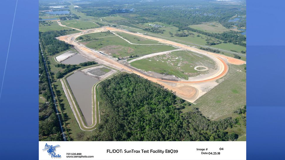 The 400-acre research facility will feature a 2.25 oval track for high speed testing, and a 200 acre infield for testing emerging technology, including autonomous vehicles. (SunTrax)