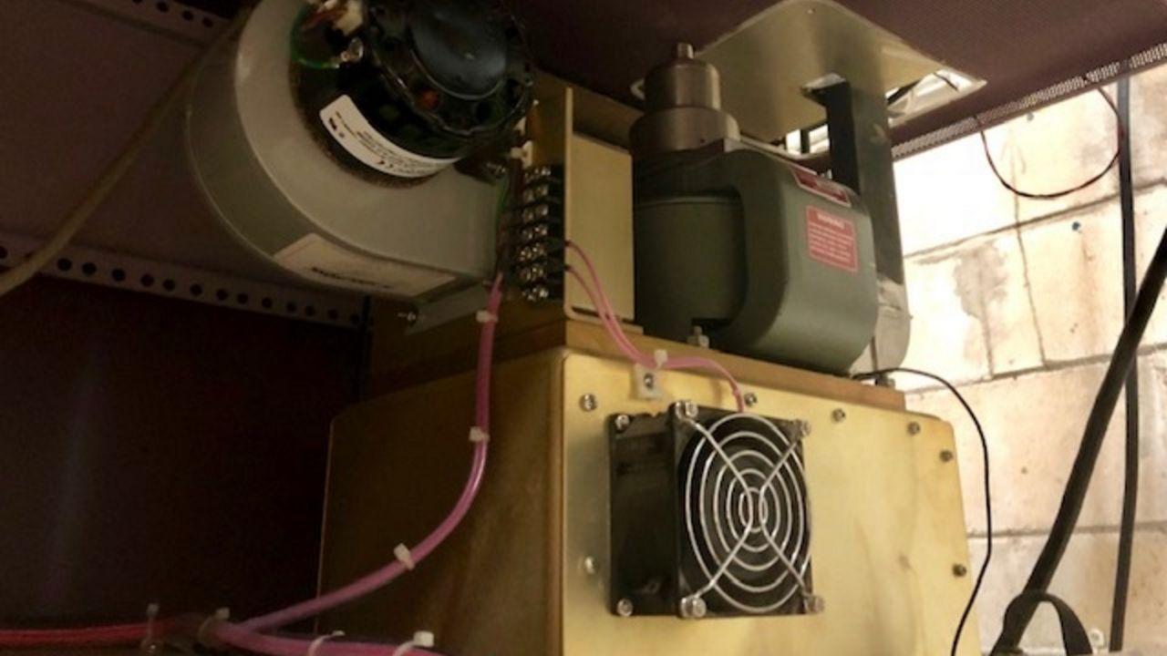 Magnetron and radar controls for StormTracker 13 Doppler radar, the station's old radar system.