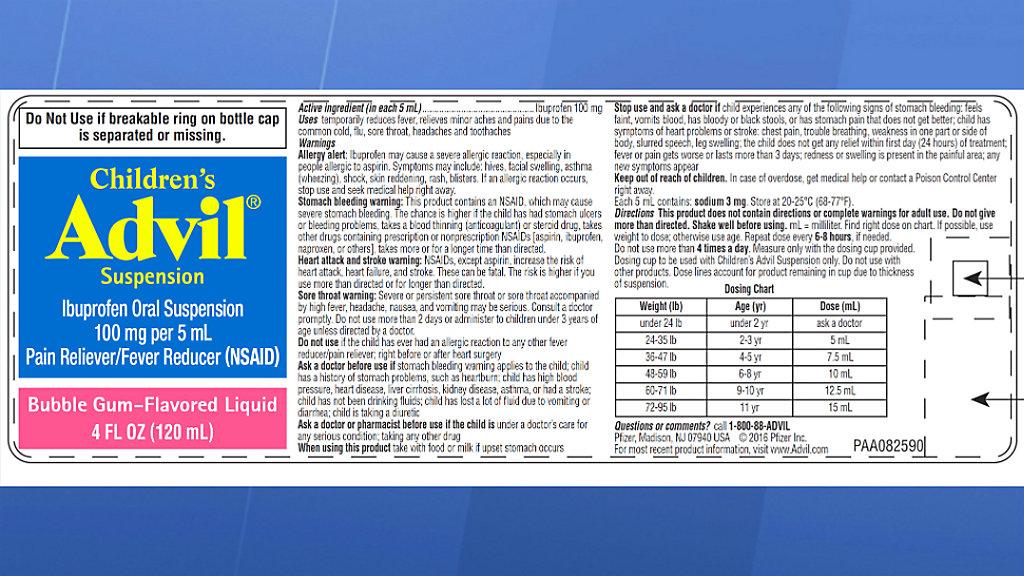 Childrens Advil Recalled Due To Overdose Concern