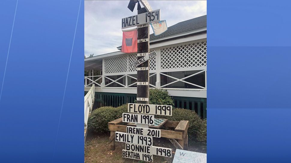 Wrightsville Beach Museum of History shows all hurricanes that have hit this area since Hazel in 1954 and a 17-foot storm surge.  (Greg Pallone, staff)
