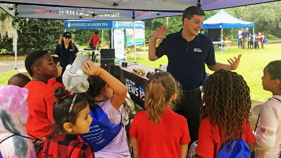As part of our Project Weather, Spectrum News 13 meteorologist David Heckard took some questions from about 200 Osceola County students about lightning safety at Bok Tower Earth Day in April.