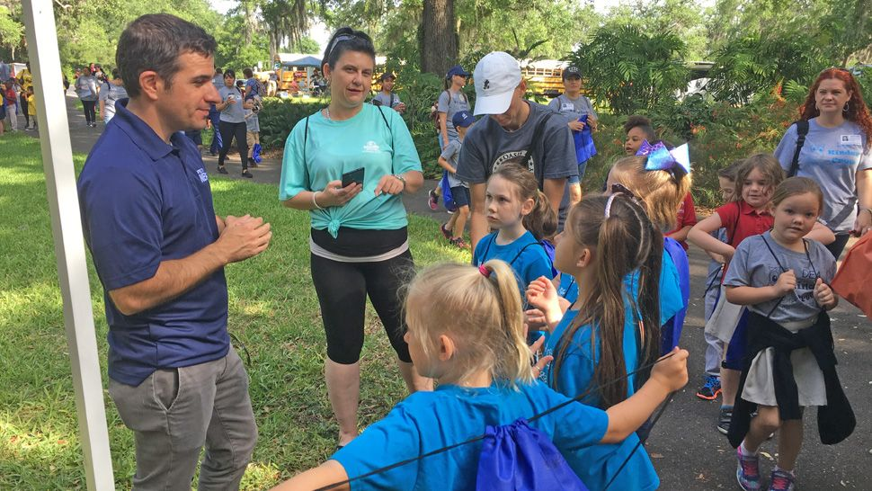 As part of our Project Weather, Spectrum News 13 meteorologist Chris Gilson took some questions from about 200 Osceola County students about lightning safety at Bok Tower Earth Day in April.
