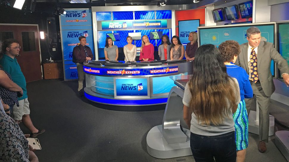 Project Weather scholarship winners got to meet chief meteorologist Bryan Karrick, meteorologist Mallory Nicholls and anchor Tammie Fields who presented the awards.