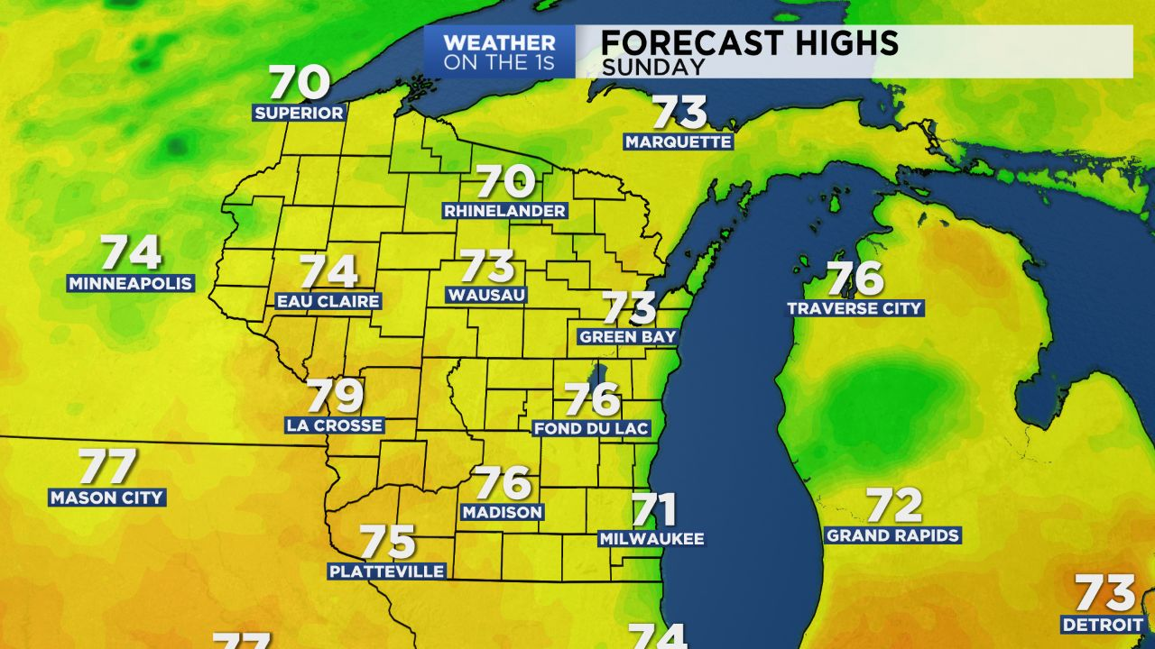 Wisconsin Sunday Night Forecast